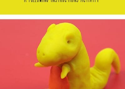 Following Instructions: Make a Playdough T-Rex