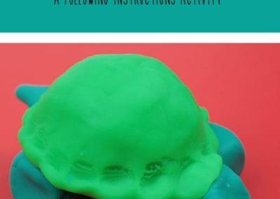Following Instructions: Make a Playdough Turtle