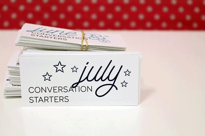 Monthly conversation starters: July