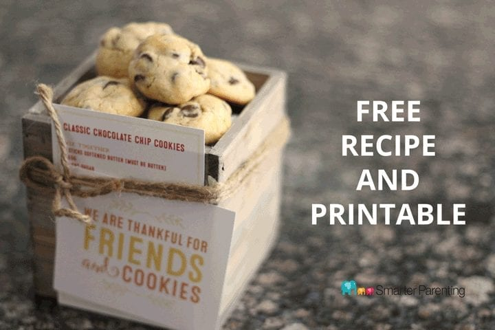 We are thankful for friends and cookies recipe and download