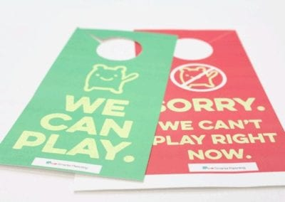 Preventive Teaching: We can play doorsign