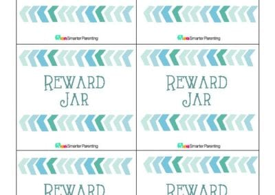Effective Praise: Reward Jar Blue Arrows