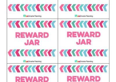 Effective Praise: Reward Jar Pink Arrows