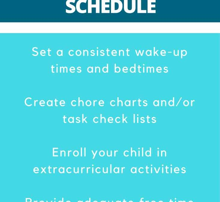How can I get my child on a schedule?
