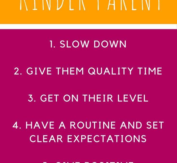 5 ways to be a kinder parent