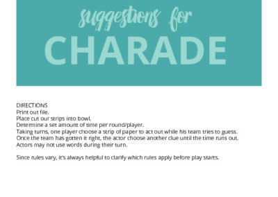 Charade Questions