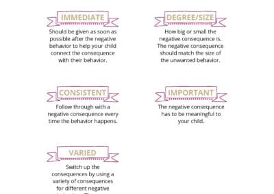 Components of Effective Negative Consequences